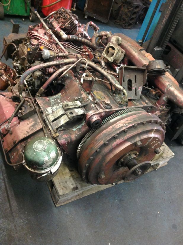 As the Vintage Leyland 680 engine arrived with Precision Engine Services Inverness