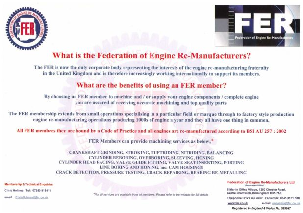 What is the Federation of Engine Remanufacturers?