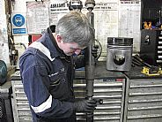 Andrew replacing a centre bearing on a Fiat 4x4 Propshaft