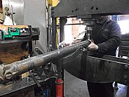 Brian replacing a UJ on a Mercedes Sprinter Propshaft